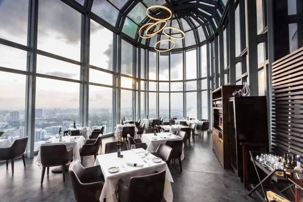 best view fine dining restaurant singapore